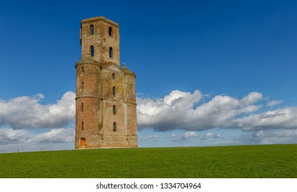 The Horton Tower folly in Dorset, England. Built in 1750 and currently used as a mobile phone mast.