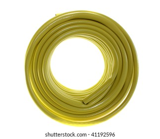 The hose yellow on a white background, is isolated