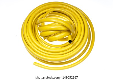 Hose-pipe on a white background-stock photo