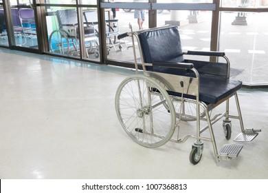 Hospital background: Wheelchair