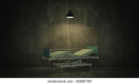 hospital bed in a room