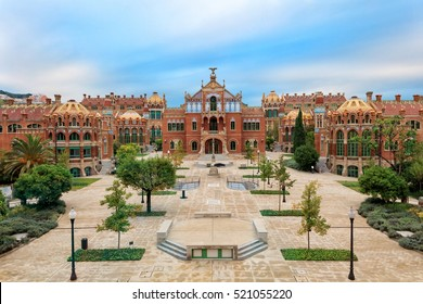 Hospital de la Santa Creu i Sant Pau complex, the world's largest Art Nouveau Site in Barcelona, Spain