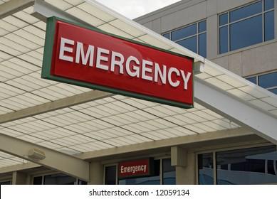 Hospital Emergency Room Entrance Sign