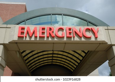 Hospital Emergency room sign background