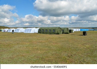 A hospital field tent for the first AID