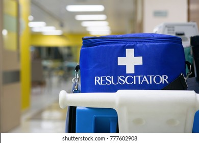 Hospital Resuscitation Equipment (BLS) with Advanced Life Support (ALS). Only nurses and physicians are able to perform life-saving procedures in the hospital.