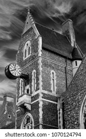 The Hospital of St Mary or Maison Dieu, Latin/Norman French translated to  House of God, is a medieval building in Dover, England and is now part of the Old Town Hall buildings in black and white.