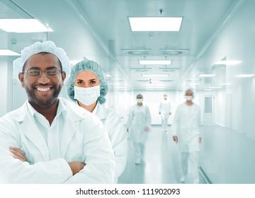 Hospital team in modern facility