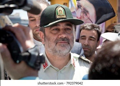 Hossein Ashtari is an Iranian military officer who currently serves as Iran's Chief of police. Iran Tehran, june 23, 2017.