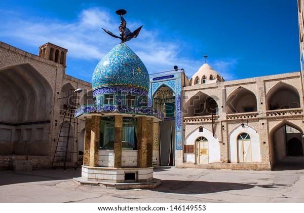 Hosseiniyeh in desert town Naein in Iran