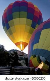 Hot Air Balloon ascending.