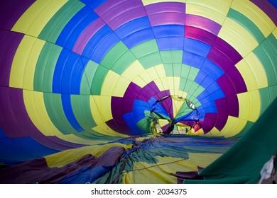 Hot air balloon being inflated at Balloonapalooza, Las Vegas, Nevada