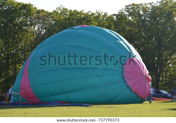 Hot Un Stock >> Hot Air Balloon Being Inflated Rise Stock Photo Edit Now