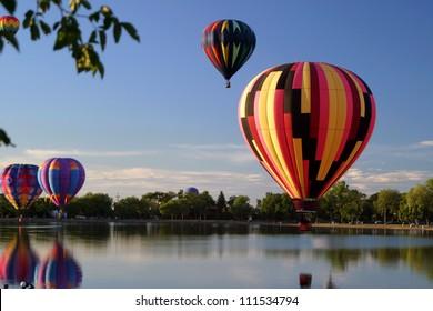 hot air balloon flying pilots