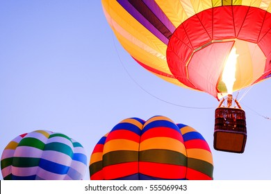 hot air balloon in front of sky