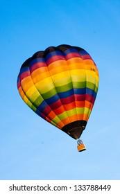 hot air balloon isolated on sky