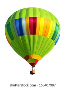 hot air balloon isolated on white background