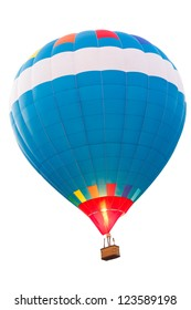 Hot air balloon, Isolated over white background