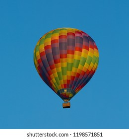 Hot air balloon just after lift off