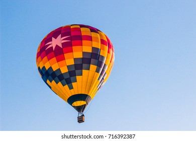 Hot Air Balloon With Large Eight Pointed Star