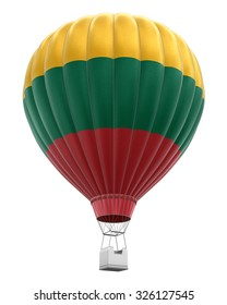 Hot Air Balloon with Lithuanian Flag (clipping path included)