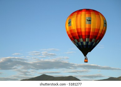 Hot air balloon in morning light