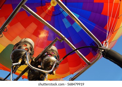 Hot Air Balloon Nozzle in Flames