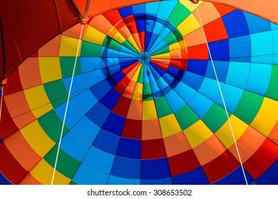 A hot air balloon, outdoor.
