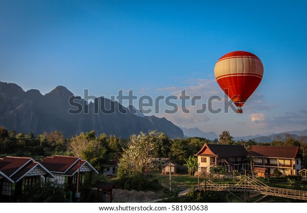 Hot air Balloon over Laos