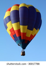 Hot Air Balloon with primary color Pattern