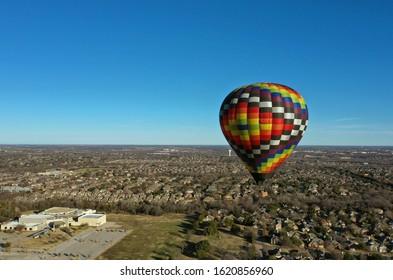Hot air balloon ride in north Texas