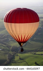 A hot air balloon ride over the English countryside
