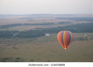 Hot air balloon safari over the Masai Mara
