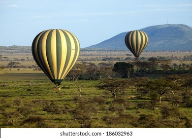 Hot Air Balloon Serengeti Africa