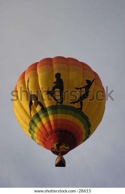 Hot Air Balloon in sky.