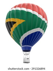 Hot Air Balloon with South African republic Flag (clipping path included)