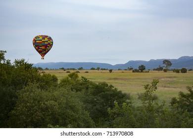 Hot air ballooning - Magaliesberg, South Africa
