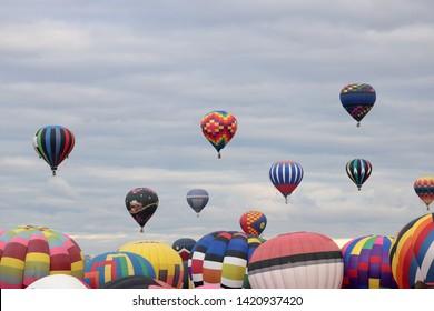 hot air balloons at the Albuquerque International Balloon Fiesta, New Mexico