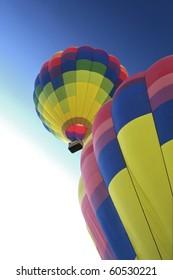 Hot Air Balloons ascending.