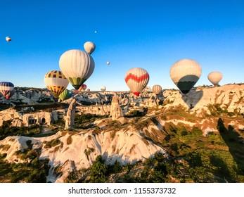 Hot Air Balloons in Cappadocia (Kapadokya)