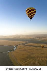 Hot Air Balloons. Napa Valley, California.