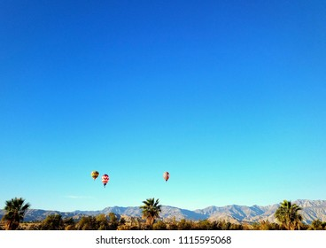 Hot air balloons over the Coachella Valley