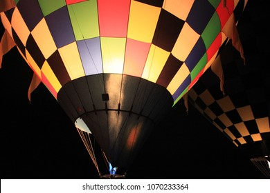 Hot Air Balloons Ready for Takeoff