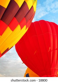 Hot air balloons in Rochester, Minnesota