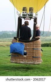 Hot air baloon and basket, ballooning flying
