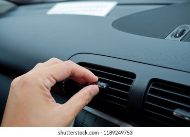 hot air conditioner in car, heat and warm, checking air