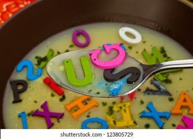 A hot- alphabet soup dish