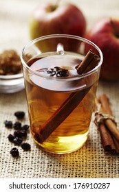 hot apple punch with cinnamon