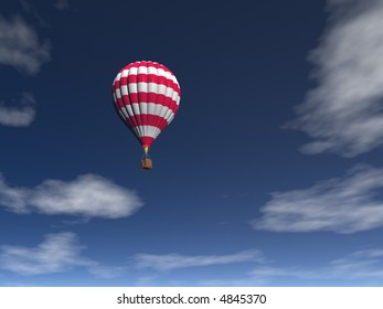hot balloon and blue sky