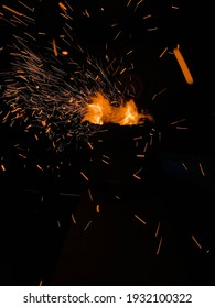 hot burning coal flames for hookah